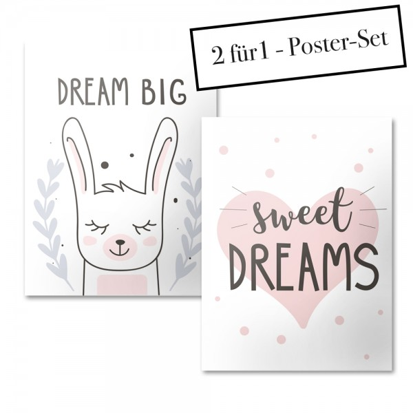 Poster Set DREAM BIG + SWEET DREAMS