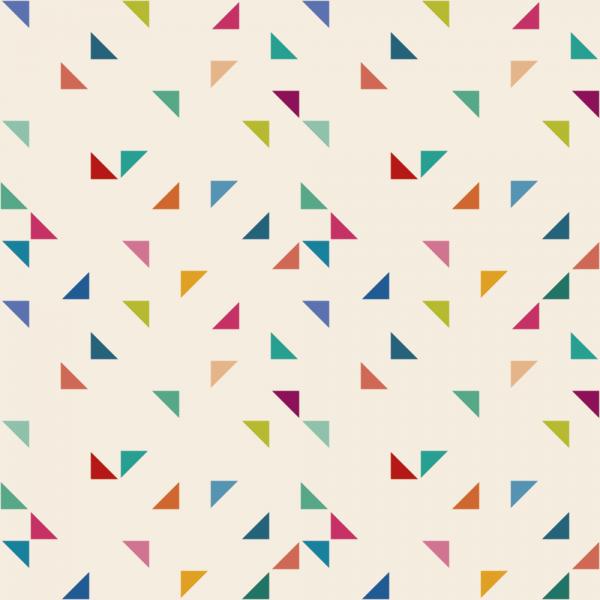 Grafische Tapete COLORED TRIANGLES