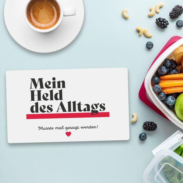 Frühstücksbrett HELD DES ALLTAGS Vesperbrett Brett