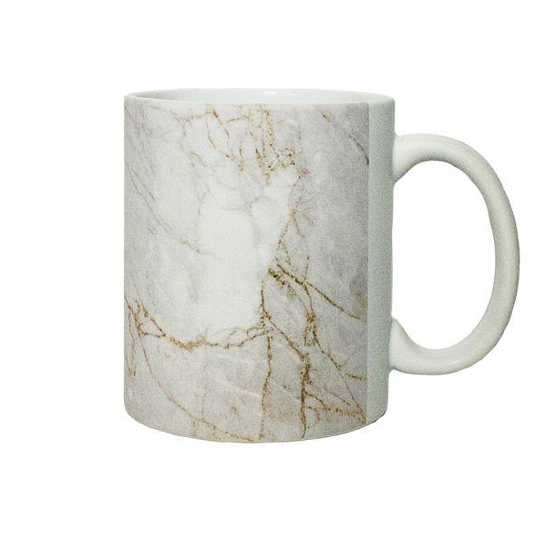 Kaffeebecher MARBLE white gold Becher