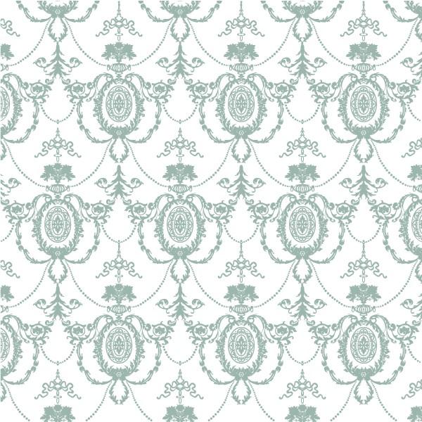 Grafische Tapete GREEN ROKKOKO