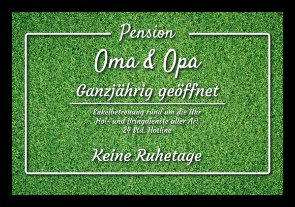 "Fussmatte ""Pension Oma & Opa - Rasen"""
