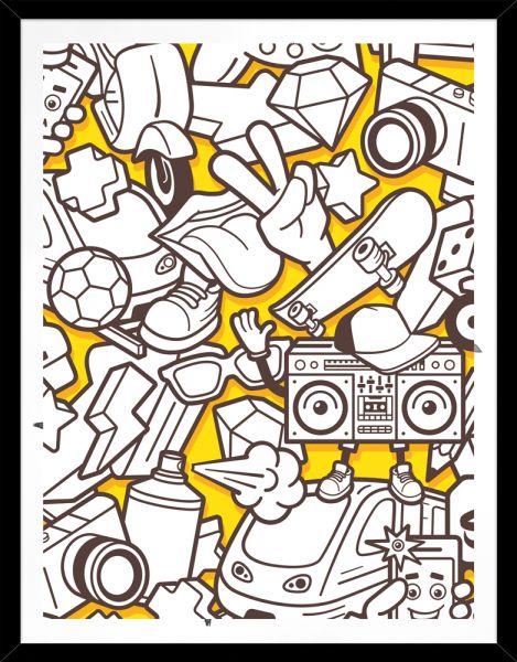 Poster YELLOW SPRAY-MOTIV