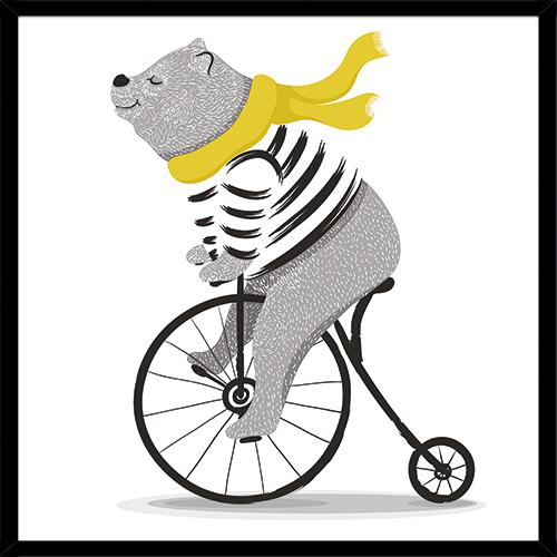 Poster RIDING BEAR YELLOW