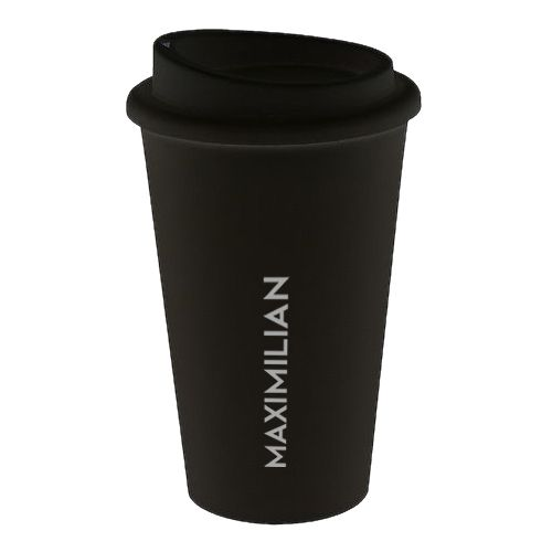 PREMIUM Coffee To Go Becher Kunststoff Black
