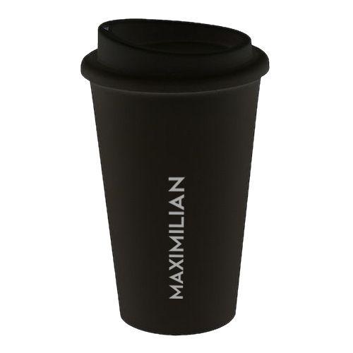 PREMIUM Coffee To Go Becher Kunststoff Black