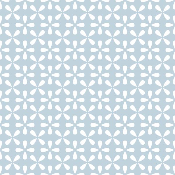 Grafische Tapete BLÜTEN Lightblue