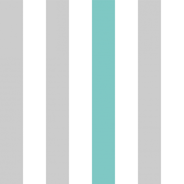 Grafische Tapete BLOCK LINES GREY TURQUOISE