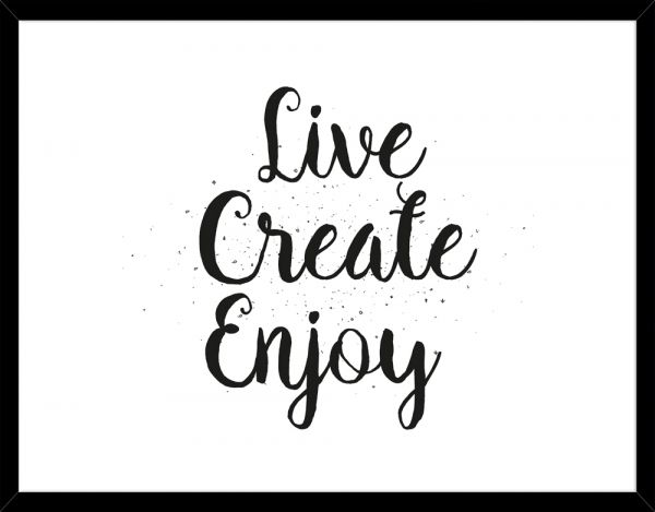 Poster LIVE CREATE ENJOY