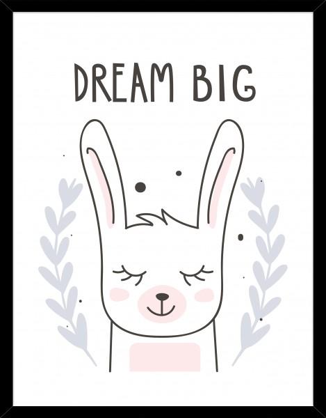 Poster DREAM BIG - MÜDER HASE
