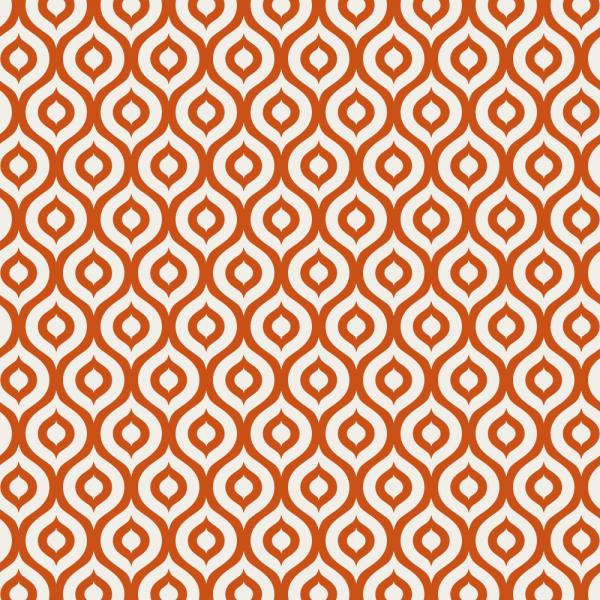 Grafische Tapete ORGANIC FORMS Orange