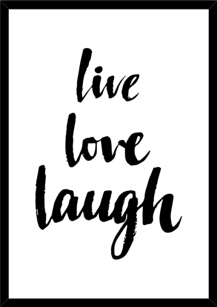 Poster LIVE LOVE LAUGH