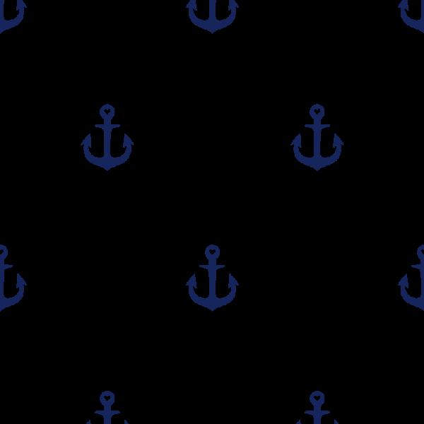 Grafische Tapete Anker Blau