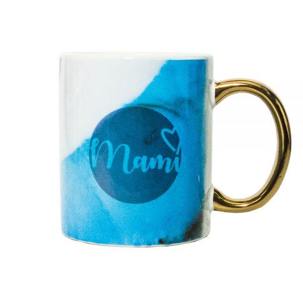 Kaffeebecher AQUARELL Blue MAMI Becher