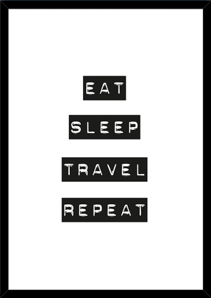 Poster EAT SLEEP TRAVEL REPEAT