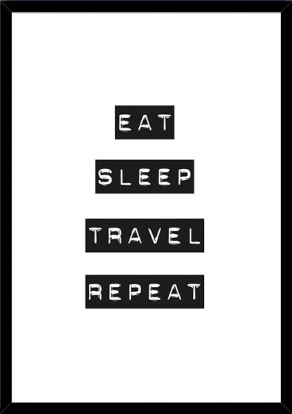 Poster EAT SLEEP TRAVEL REPEAT