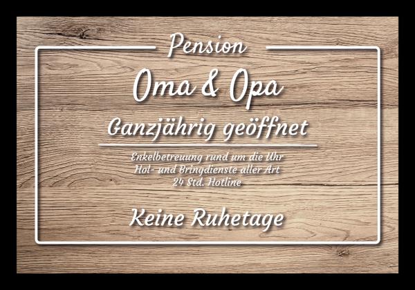 "Fussmatte ""Pension Oma & Opa - Holz"""