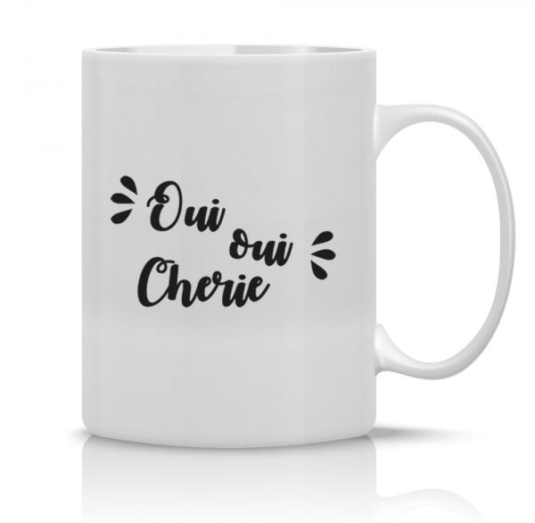 Keramik Becher OUI OUI CHERIE