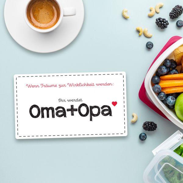 Frühstücksbrett IHR WERDET OMA + OPA Vesperbrett Brett