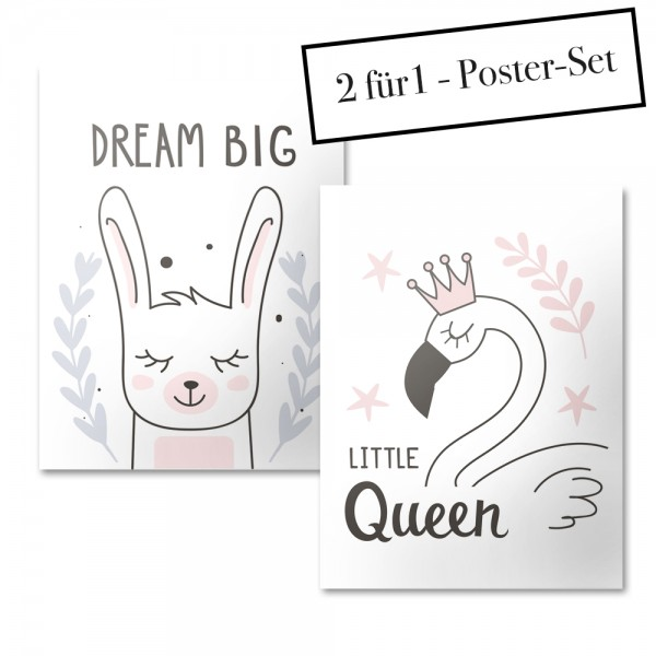 Poster Set DREAM BIG + LITTLE QUEEN
