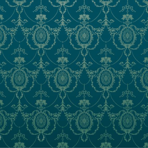 Grafische Tapete ROKKOKO PETROL GREEN