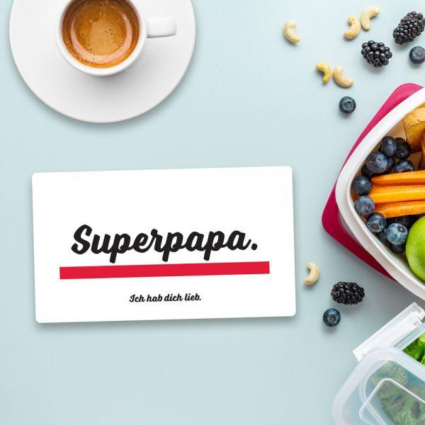 Frühstücksbrett SUPERPAPA Vesperbrett Brett